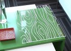 Plexiglass Table Top Covers with Wood Pattern