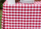 Red Fitted Vinyl Picnic Table Covers