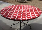 Red Fitted Vinyl Table Covers Round for Outdoor