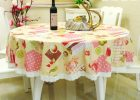 Round Plastic Table Covers With Elastic Decor