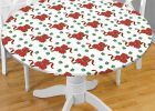Round Plastic Table Covers With Elastic Edge