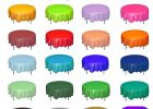Round Plastic Table Covers With Elastic Vinyl for Sale