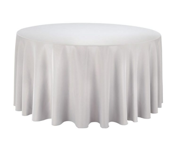 Round Plastic Table Covers With Elastic White Edge for Sale