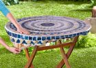 Round Vinyl Table Covers With Elastic for Outdoor Folding Table
