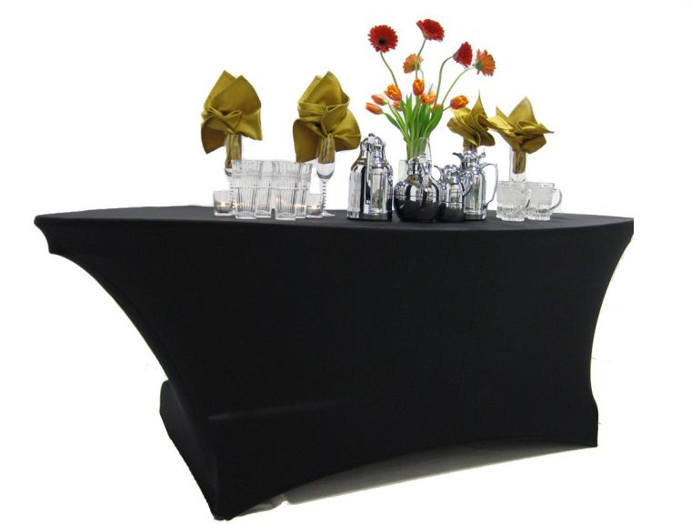 Scuba Table Covers Black Spandex