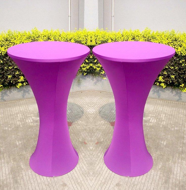 Scuba Table Covers Purple Spandex