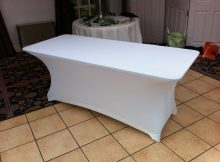 Spandex Bar Table Covers - Black