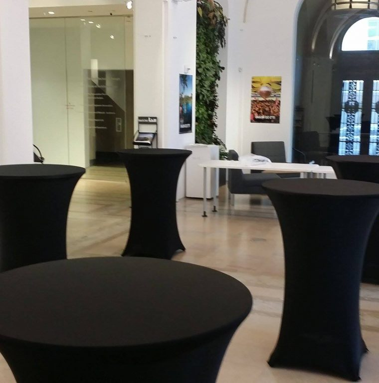 Spandex Bar Table Covers Black Cocktail Table