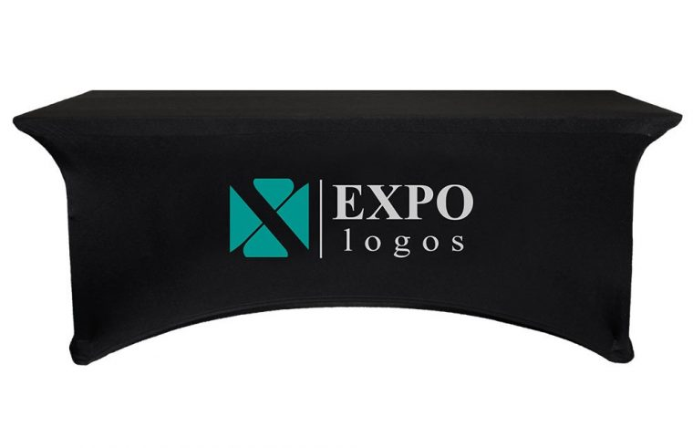 Stretch Table Covers With Logo Open Back for Trade Shows
