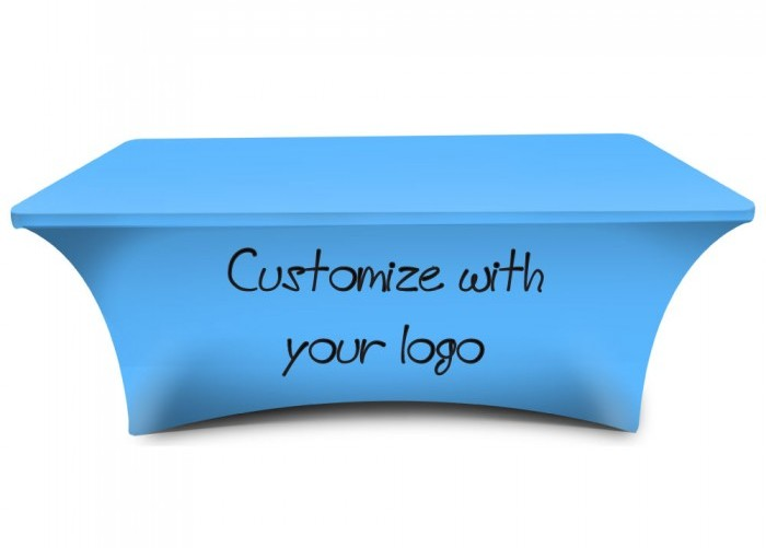 Stretch Table Covers With Logo Rental For Trade Shows