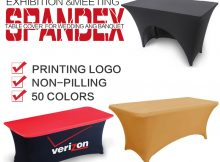 Stretch Table Covers With Logo for Trade Show