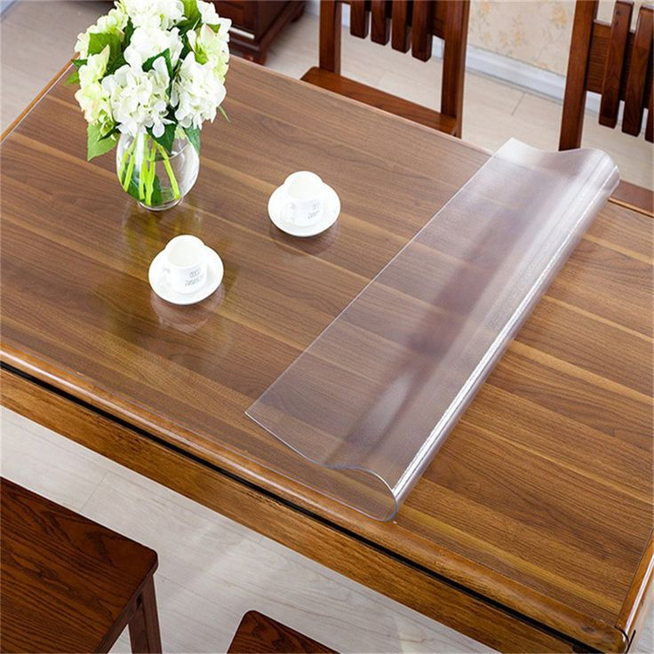 Table Top Protection Covers Clear Plastic Pictures