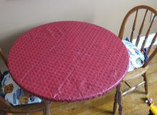 Vinyl Elasticized Table Covers Round