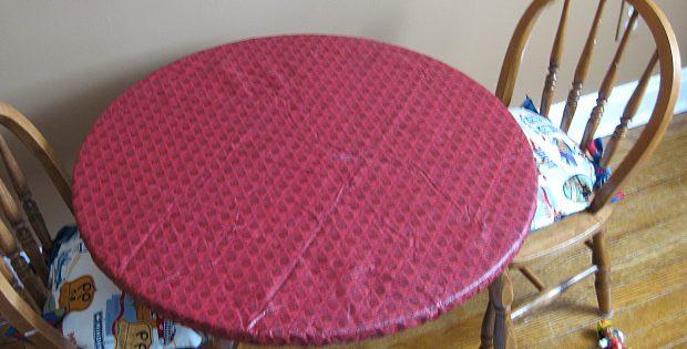 Elasticized Table Covers Round Decor