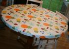 Vinyl Table Covers With Elastic Round Pictures for Sale