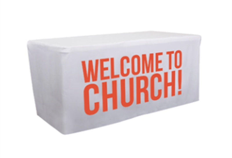 White Fitted Rectangular Vinyl Table Covers