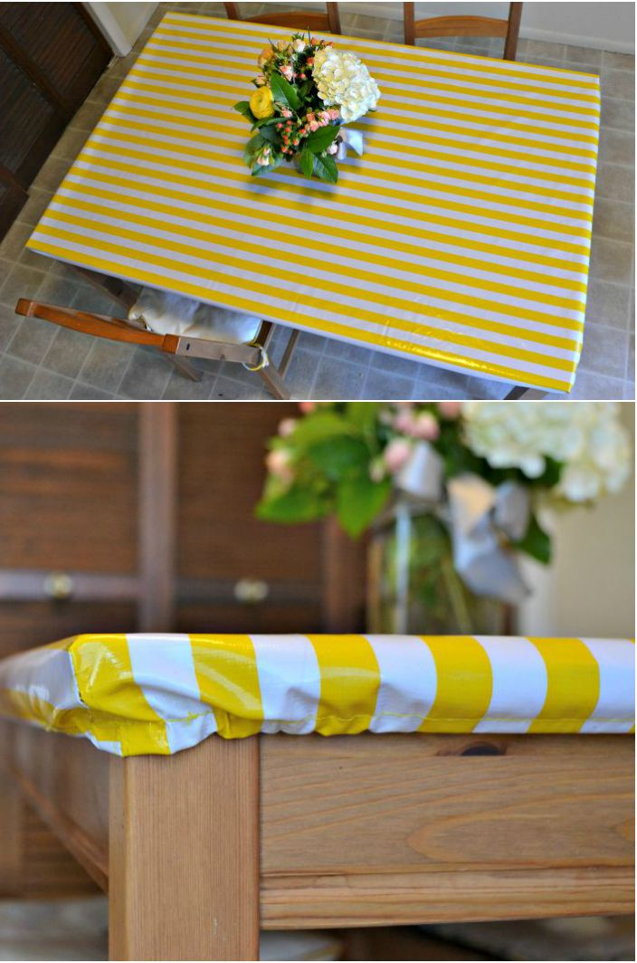 Yellow Fitted Rectangular Vinyl Table Covers