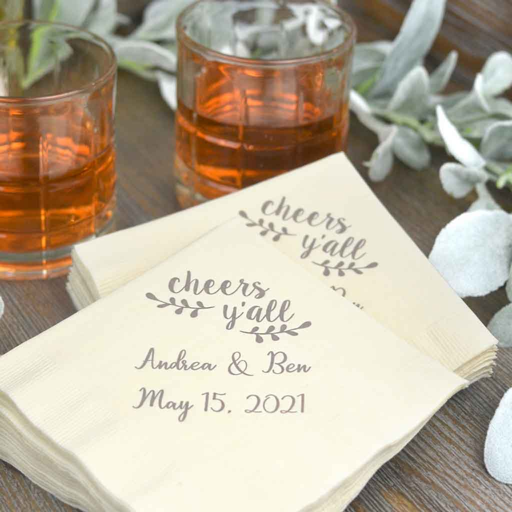 5 Types of Personalized Wedding Napkins That You Should Know   Table Covers Depot