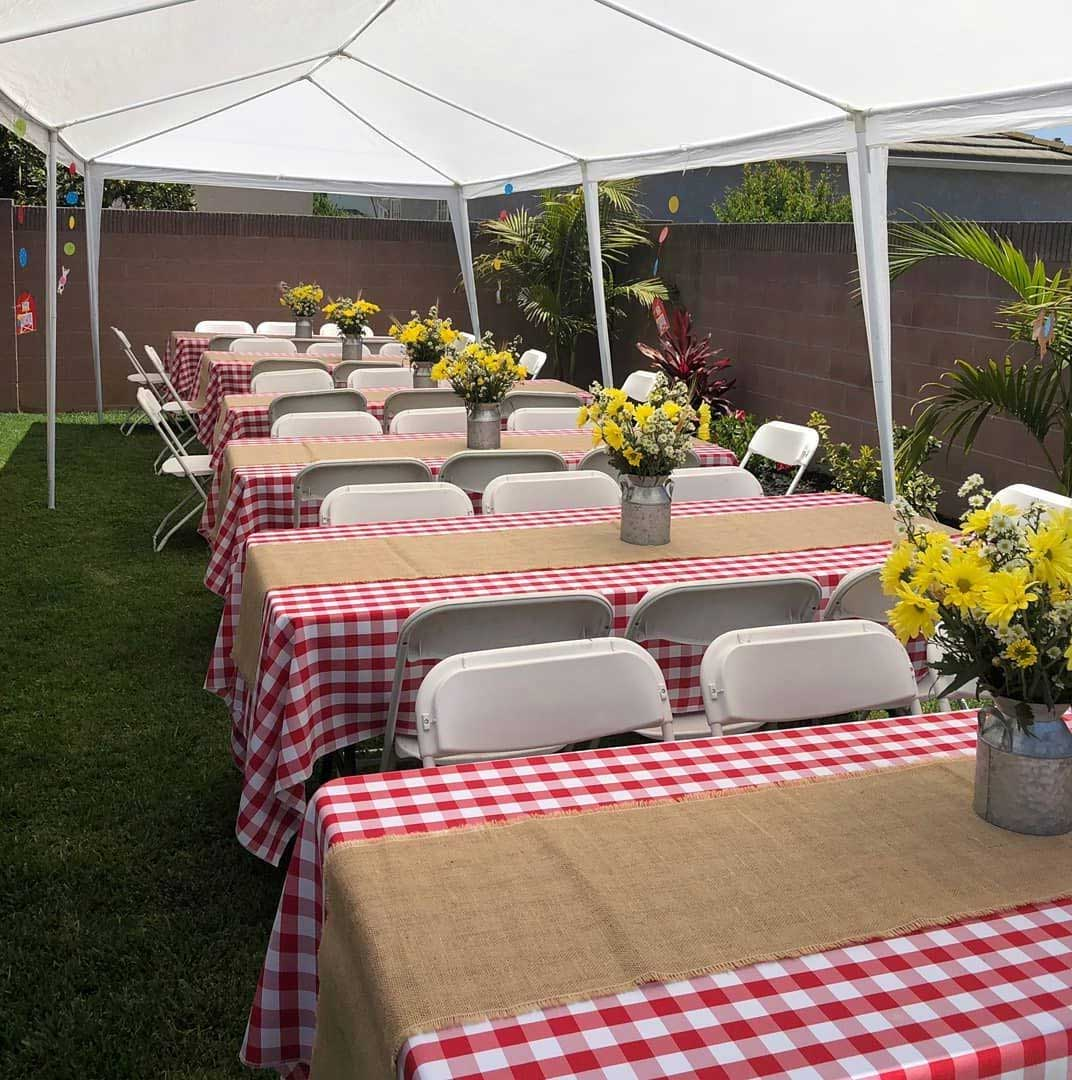 Adorable Table Design and Decor Ideas With Red Checkered Vinyl Tablecloths | Table Covers Depot