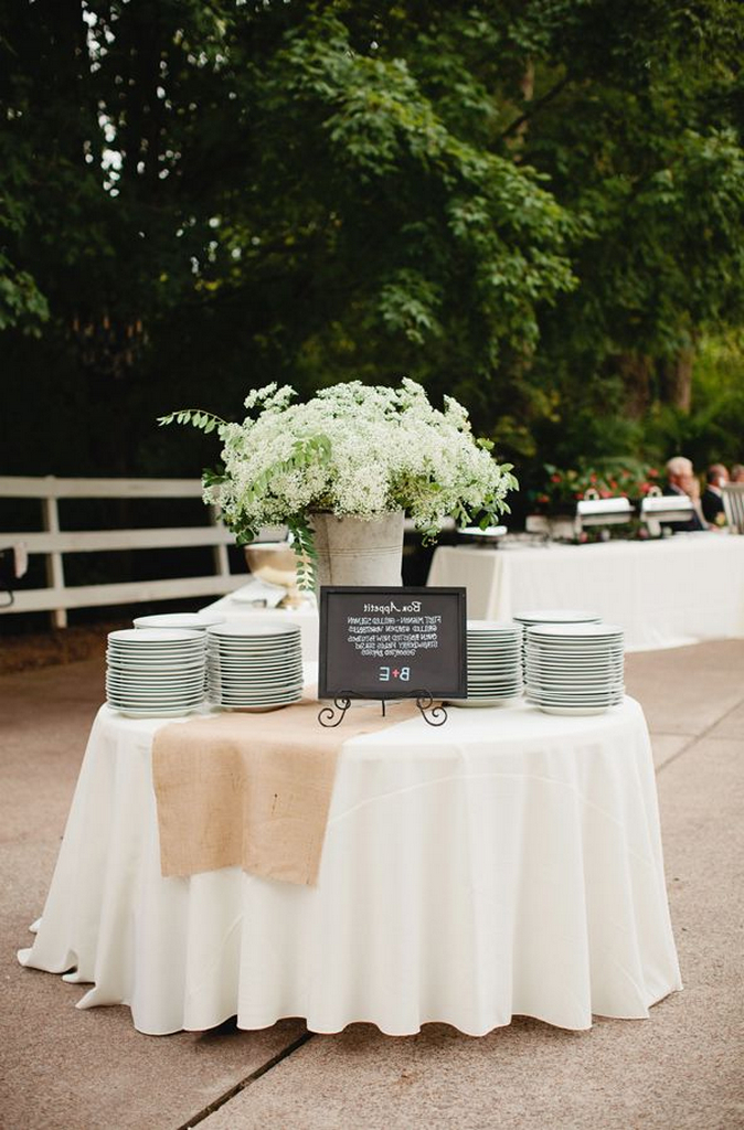 Awesome White Tablecloth With Burlap Runner Problems And How To Download Free Architecture Designs Scobabritishbridgeorg