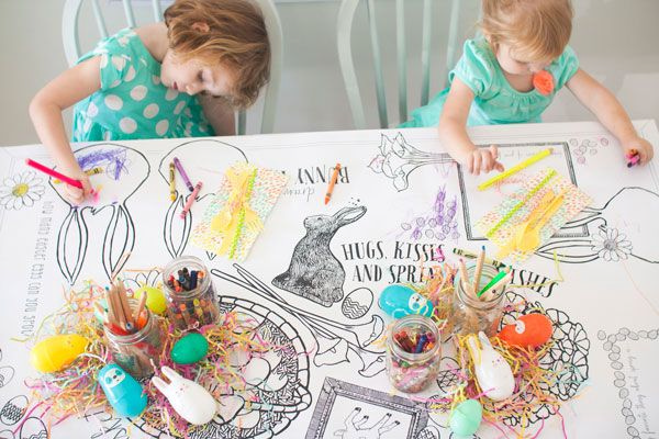 Match Your Imagination And Decoration! 5 Easter Tablecloth Ideas For Celebration   Table Covers Depot