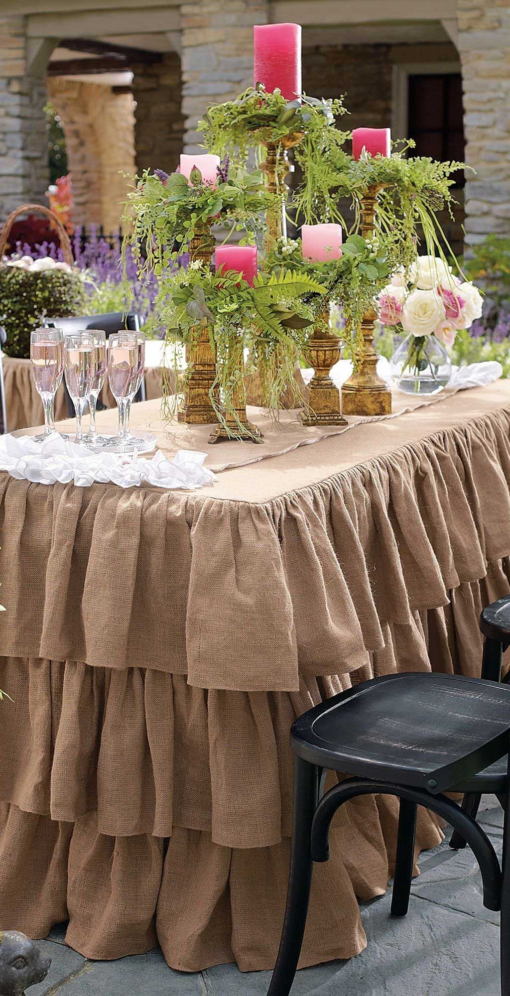 Add Elegance And Fancy, Check Out Wedding Table Skirts Ideas | Table Covers Depot