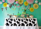 Cow Print Tablecloth Cover Plastic