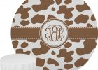 Cow Print Tablecloth and Brown for Round Table