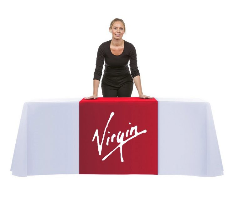 Custom Tablecloth With Logo Company Cheap UK Design