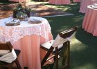 Lace Tablecloths For Weddings Round for Sale