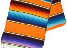 Mexican Serape Table Runner Blanket Design