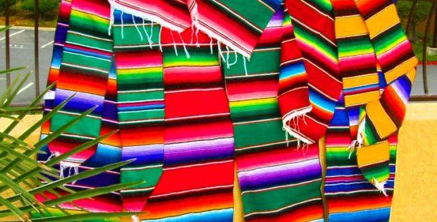 Mexican Serape Table Runner Blanket Fiesta Saltillo Design