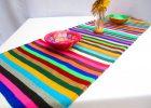 Mexican Serape Table Runner Blanket Saltillo Fiesta Design