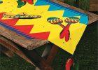 Mexican Serape Table Runner Design Saltillo