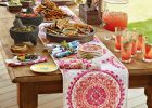 Mexican Serape Table Runner Ideas for Dining Table