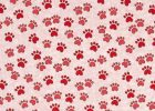 Paw Print Tablecloth Pink