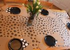 Paw Print Tablecloth Vinyl