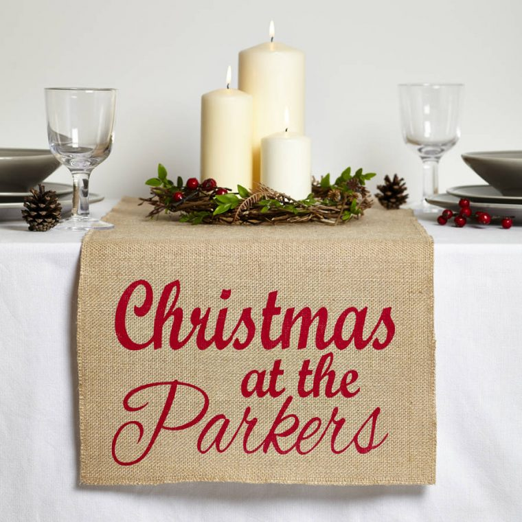 Personalised table cloth ideas to show your creativity for Christmas table cover ideas