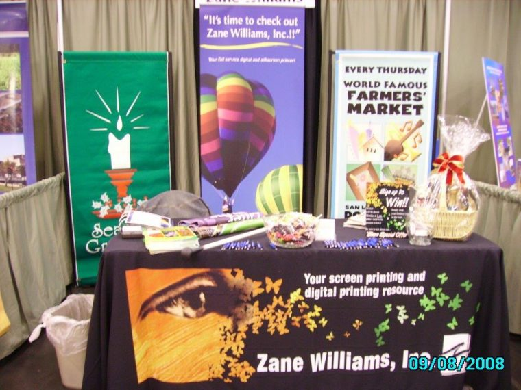Exhibition Stand Tablecloths : Printed tablecloths for trade shows and the