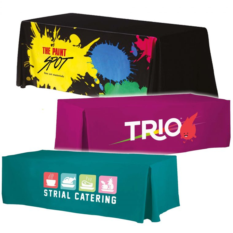 Tablecloths With Logo Cheap Custom Made