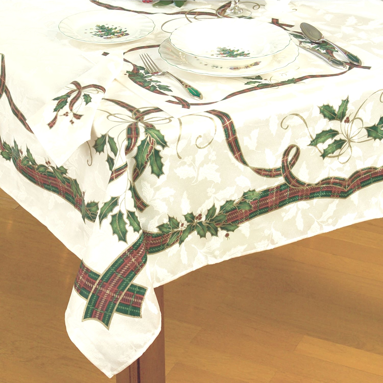 Oval Christmas Tablecloths | Tablecloths. Inspirational Large Christmas Tablecloths and Runners ..