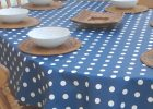 Oval Wipe Clean Tablecloth   Blue Polka Dot | The Tablecloth Company | Tablecloth For Oval Table