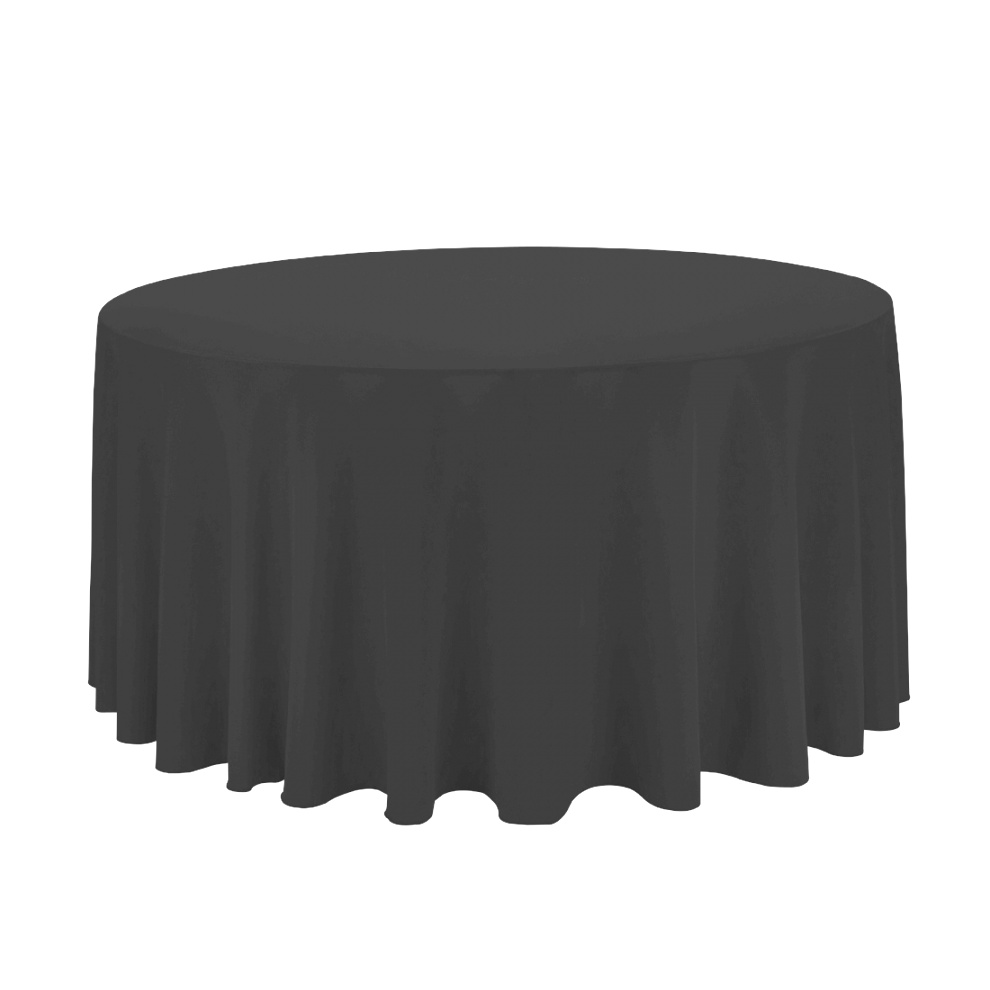 round table linens | We have 16 - 120 in. Round Polyester Tablecloth Black | Damask Red ..