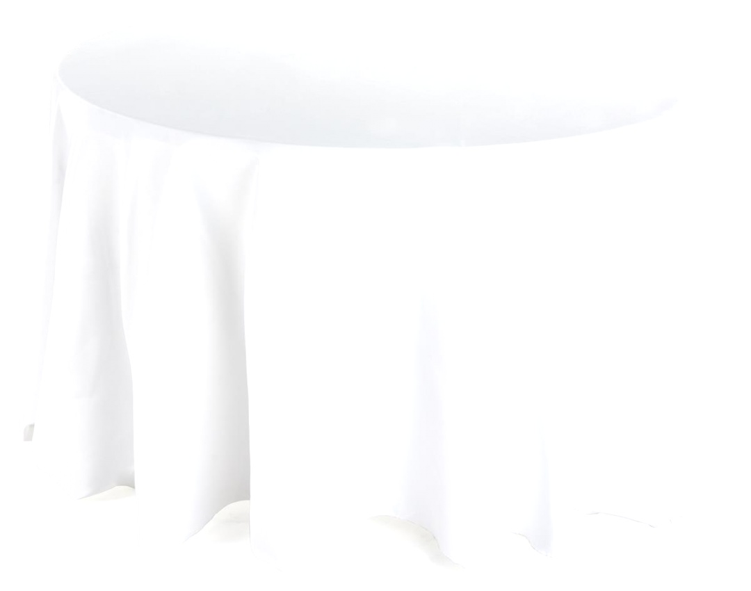 "round table linens | Round Dining Table Cloth | Ivory Linen with 108"" Diameter 