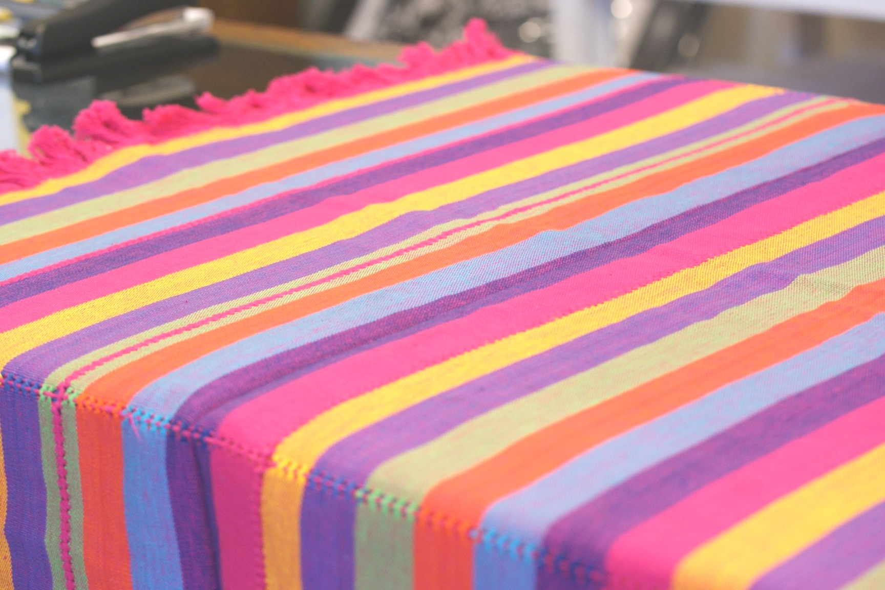 fiesta table linens | Colorful Cotton Tablecloths and Napkins from Patzcuaro | Zinnia ..