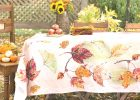 Autumn Leaves Tablecloth | Linens  | fall table linens
