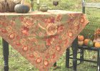 Sunflower Tablecloth   Olive | Table Linens  | fall table linens