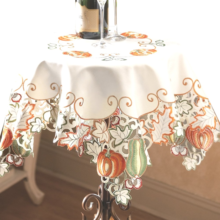 fall table linens | Amazon.com: Autumn Harvest Diecut Decorative Table Linens, Runner ..