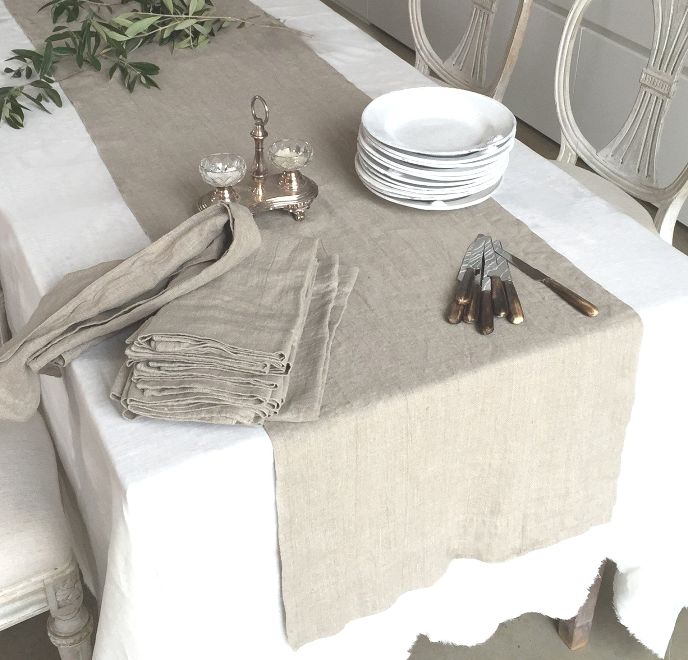linen runners for tables | Linen Table Runner | Rough Linen, 100% Natural Table Linen | linen runners for tables