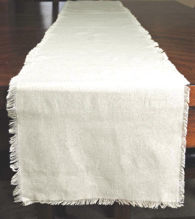 linen runners for tables | Edge Linen Table Runner 12